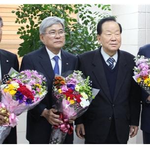 이상일(기계69, 총동창회 감사) 기계설비건설협회장, 두원공대서 공적패 수상