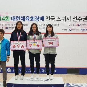 중앙대, 제14회 대한체육회장배 전국스쿼시 선수권대회에서 각종 메달 획득