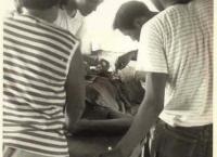 귀중한 사진 한장 - 국소 마취하에 충수돌기 제거술